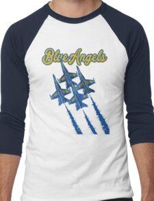 Blue Angels v2 Men's Baseball ¾ T-Shirt