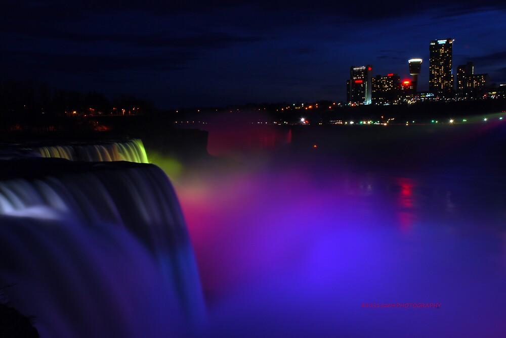 Colorful Niagara falls by PJS15204