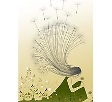 * the girl with dandelion hair * Photographic Print