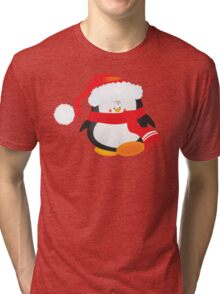 cute little xmas penguin Tri-blend T-Shirt