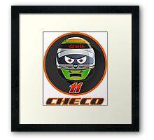 Checo PEREZ_Helmet 2015 #11 Framed Print