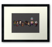 8-Bit Community Framed Print