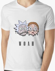 Reck n Melty - Fanmade Rick and Morty Design Mens V-Neck T-Shirt