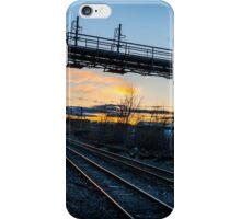 The Sun Goes Down Behind The Tracks iPhone Case/Skin
