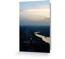 Sunset over Citgo Greeting Card