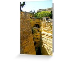 In Defence of Valletta. Greeting Card
