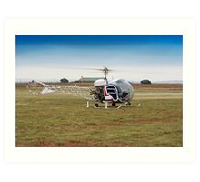 Bell 47 Helicopter Art Print