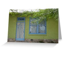 Green House in the Barrio Greeting Card