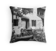 Water Town Throw Pillow