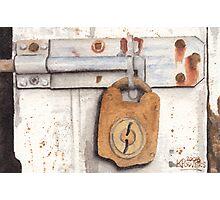 Lock and Latch Photographic Print