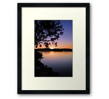Sunset Tweed River Framed Print