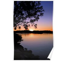 Sunset Tweed River Poster