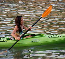 Mara kayaking 1 by Diane Philips