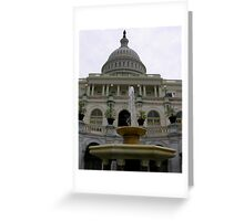 looking up at the Capitol Greeting Card