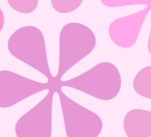 Abstract Flowers in Pinks Sticker