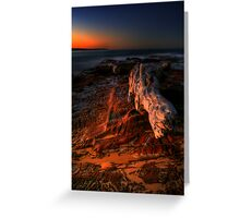The Sea at Sunset Greeting Card