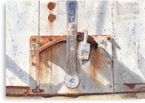 Work Trailer Lock Number One by Ken Powers