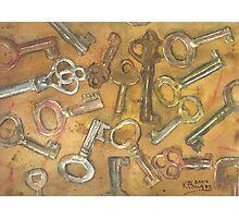 Assorted Skeleton Keys Photographic Print