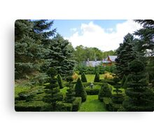A Rural Formal Garden Canvas Print