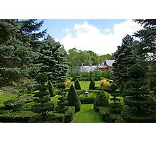 A Rural Formal Garden Photographic Print