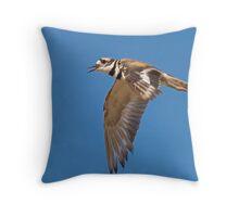 Killdeer in Flight Throw Pillow