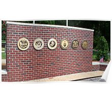 veterans war memorial north carolina usa Poster