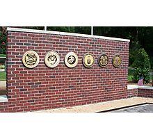 veterans war memorial north carolina usa Photographic Print