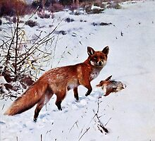 Red Fox Hunting Art by goldenmenagerie