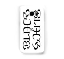 Black on white Samsung Galaxy Case/Skin