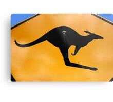 Kangaroos Ahead Metal Print