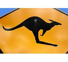 Kangaroos Ahead Photographic Print