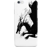 Dragon Black Grunge  iPhone Case/Skin