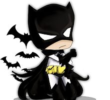 Chibi Batman by XMenJordan