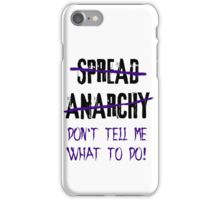 Spread Anarchy  iPhone Case/Skin