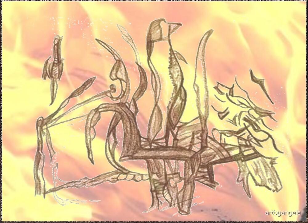 """xiiiC """"ii7 in flames""""_savedfromthefire by artbyangela"""