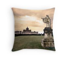 Firey sky over Castle Howard Throw Pillow