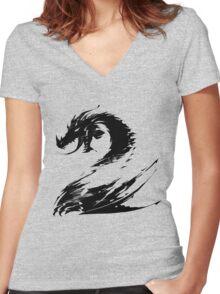 Dragon GW2 Black Women's Fitted V-Neck T-Shirt