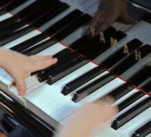 Tiny hands, big keys  by Margaret Whyte
