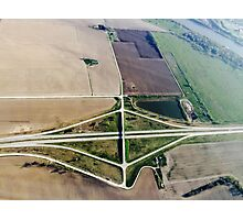 Aerial Highway Overpass Intersection Photographic Print