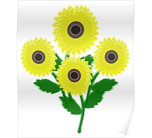 Picture Of The Sunflowers  Poster