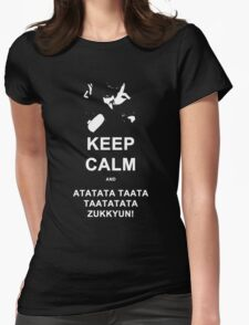 BM - Keep Calm M Womens Fitted T-Shirt