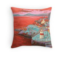 Crinan Lighthouse Throw Pillow