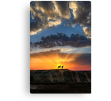 Tragic Sunset Canvas Print