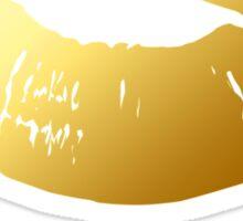 Stylish Gold Lips  and XOXO Hugs Kisses (white) Sticker
