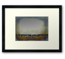 Old Skylines and New. Framed Print