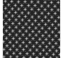 Modern Geometric Four Petal Pattern Photographic Print