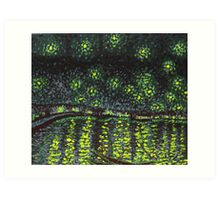 Starry night over the Rhone Art Print