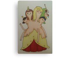 princess princess princess Canvas Print