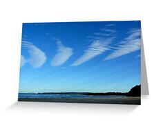 CLOUDS WITH RAYS Greeting Card