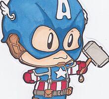 Captain America Chibi by Skyforce99
